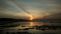 Matahari terbit di Pantai Sawarna